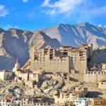 leh palace building in Leh Ladakh India