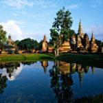 Wat Mahathat in Sukhothai Historical park, Thailand,