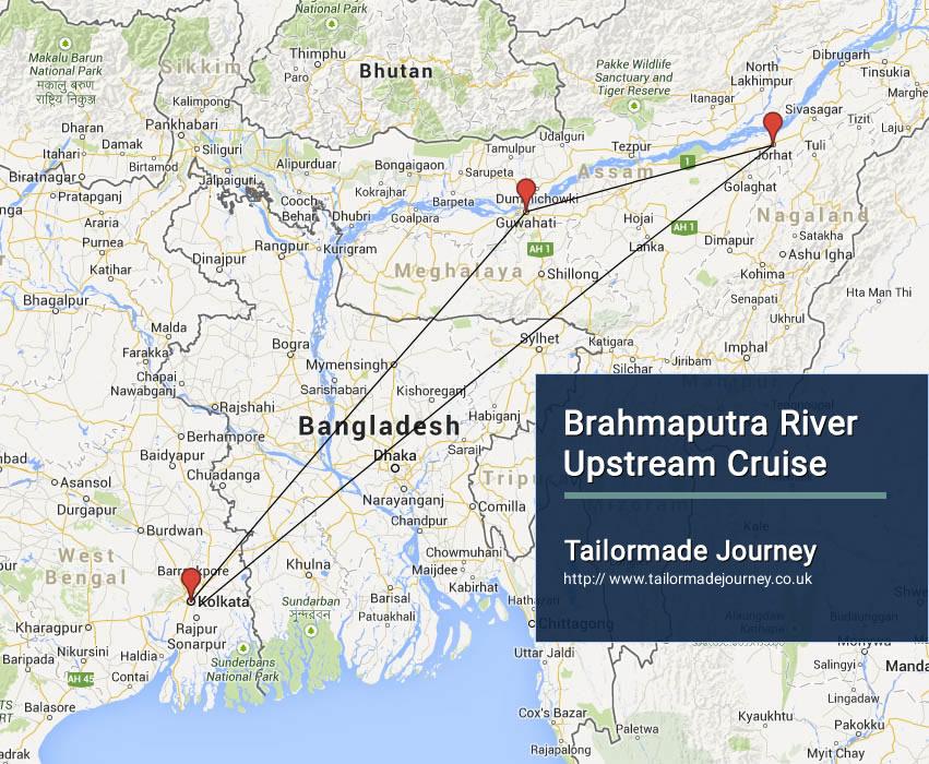 Brahmaputra river upstream cruise