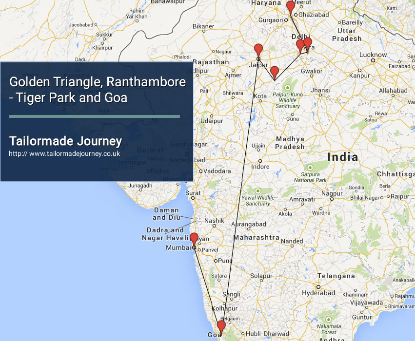 Golden Triangle, Ranthambore – Tiger Park and Goa – TJ – IN NI 15