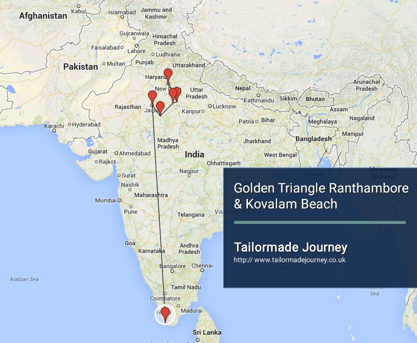 Golden Triangle Ranthambore & Kovalam beach – TJ – IN – NI 16