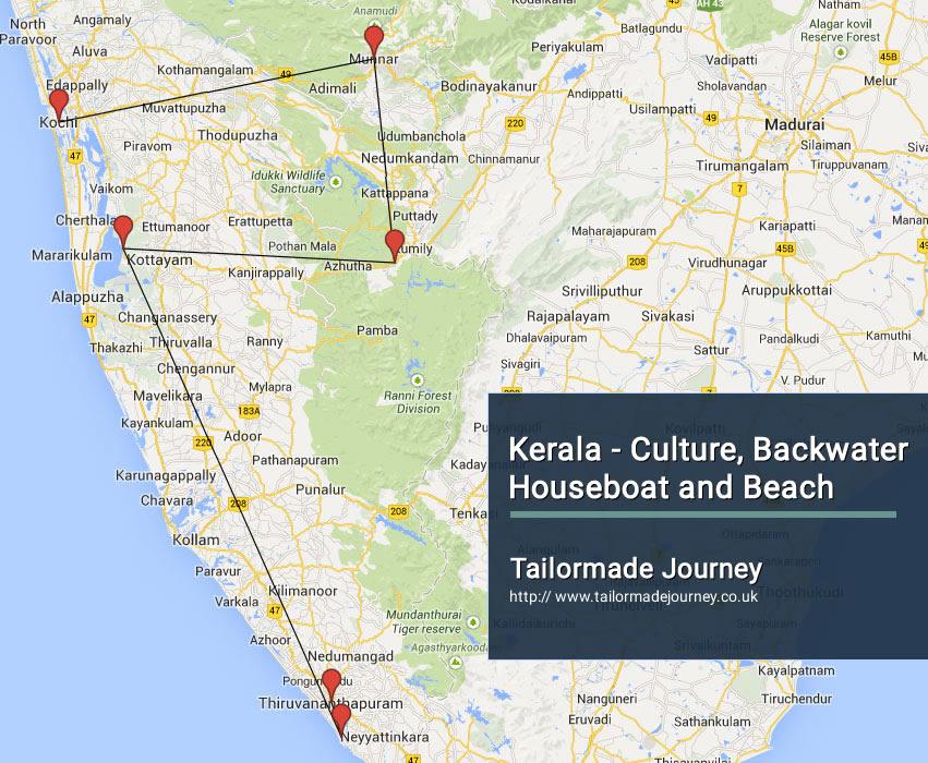 Kerala – Culture, Backwater Houseboat and beach – TJ – IN SI 07